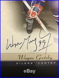 2005-06 UD Beehive 5x7 Photo Graphs Autograph Wayne Gretzky Edmonton Oilers SP