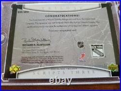 2005-06 Upper Deck Trilogy Gretzky Ice Scripts Three Autograph 30/50