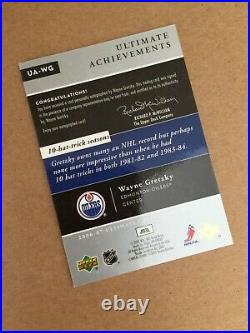 2006-07 Ultimate Collection WAYNE GRETZKY On Card AUTO SSP /10 Achievements (MB)