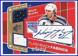 2007-08 SPx Flashback Fabrics Dual Jersey Autograph #150 Wayne Gretzky SP RARE