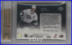 2009-10 Upper Deck UD Black Ice Quad Jerseys /25 Wayne Gretzky BGS 9.5 Auto HOF