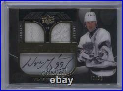 2009 UD Black Lustrous Materials Dual Jersey /50 Wayne Gretzky #LM-WG Auto HOF
