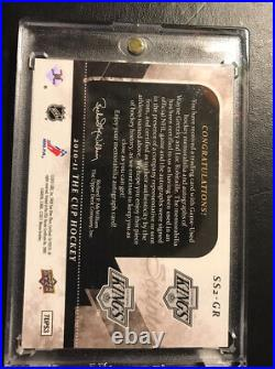 2010-11 The Cup Scripted Swatches Dual Wayne Gretzky/Luc Robitaille #15/15