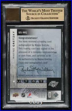 2011-12 Ultimate Collection Signatures Wayne Gretzky #US-WG BGS 9.5 Auto HOF