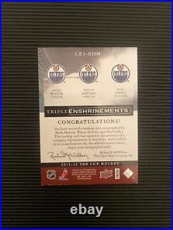 2011-2012 The Cup Triple Enshrinements Mark Messier Wayne Gretzky Coffey 8/10