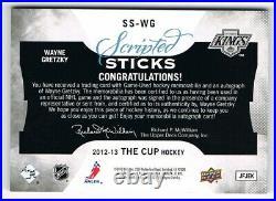 2012-13 The Cup Scripted Sticks Autograph Stick Auto #SS-WG Wayne Gretzky 19/35
