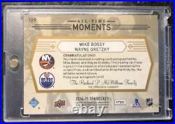 2014-15 All-Time Moments Dual Auto Wayne Gretzky Mike Bossy Auto #199