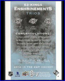 2014-15 The Cup Enshrinements Trios Wayne Gretzky Auto Autograph 02/10 Ssp