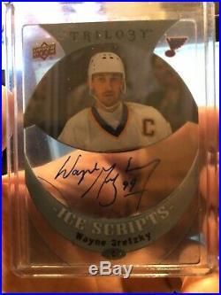 2015-16 Upper Deck Trilogy Wayne Gretzky Ice Scripts Auto Rare Autograph #is-wg