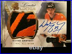 2015-2016 UD The Cup. Limited Logos. Wayne Gretzky Patch Autograph. 02/10