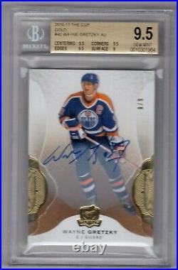 2016-17 Ud The Cup #40 Base Gold Autograph Auto /9 Ssp Wayne Gretzky Bgs 9.5