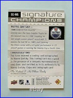 2016-17 Wayne Gretzky Premier Signature Champions Autograph Auto 09/10 Only 10