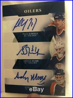 2017-18 The Cup Nine Way Auto #/9 OILERS GRETZKY KURRI MESSIER COFFEY MOOG FUHR