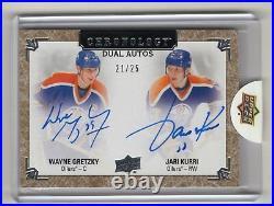 2018-19 Chronology Dual Autograph Auto /25 Wayne Gretzky Jari Kurri Oilers Hof
