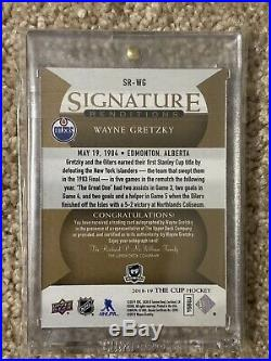 2018-19 The Cup Signature Renditions Wayne Gretzky Hard Signed Auto Oilers
