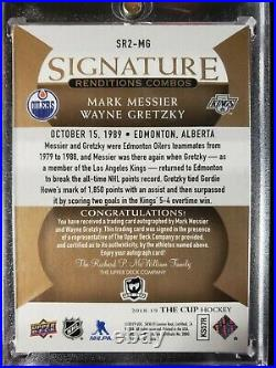 2018-19 The Cup Wayne Gretzky Mark Messier Dual Signature Renditions Auto