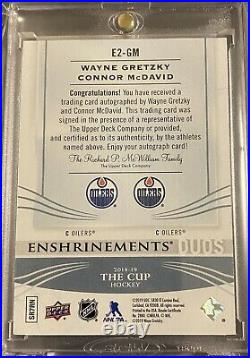 2018-19 UD The Cup Wayne Gretzky Connor McDavid Enshrinements Duos 1/10RARE
