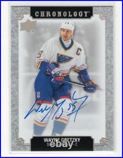 2018-19 Ud Chronology Autograph Auto Wayne Gretzky Rare Blues Hof