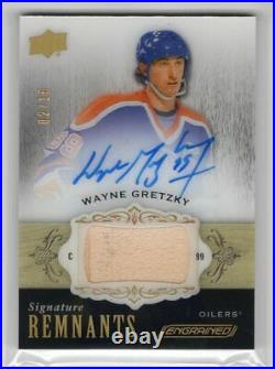 2018-19 Ud Engrained Remnants Game Used Stick Autograph Auto /15 Wayne Gretzky