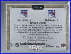 2018-19 Upper Deck Chronology Dual Autos /25 Wayne Gretzky Mark Messier Auto HOF