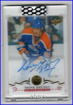 2018-19 Upper Deck Clear Cut Exclusives /35 Autograph Auto Wayne Gretzky Oilers