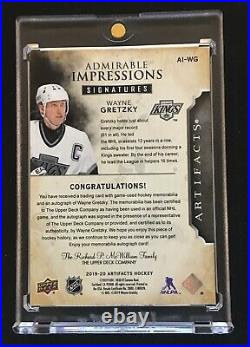 2019-20 Artifacts Admirable Impressions Autograph #AI-WG Wayne Gretzky 16/24