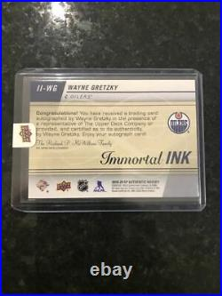2019-20 Sp Authentic Wayne Gretzky Immortal Inks Auto #ii-wg Oilers 01/10 Redeem