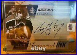 2019-20 Sp Authentic Wayne Gretzky Immortal Inks Auto #ii-wg Oilers 04/10