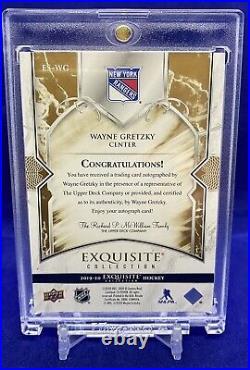 2019-20 UD Exquisite Collection Signatures Gold Wayne Gretzky ES-WG 3/5 Rangers