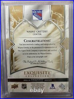 2019-20 UD Exquisite Collection Wayne Gretzky Signature 3/5 SSP ES-WG NY Rangers