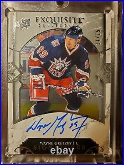 2019-20 UPPER DECK EXQUISITE COLLECTION WAYNE GRETZKY On Card AUTO SIGNATURE /15