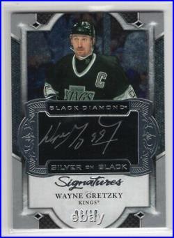 2019-20 Ud Black Diamond Silver On Black Autograph Auto /10 Wayne Gretzky King