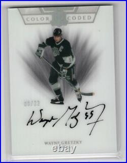 2019-20 Ud The Cup Color Coded Autograph Auto /22 Wayne Gretzky La Kings Hof