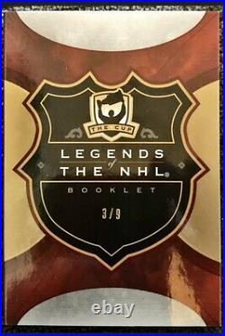 2019-20 Ud The Cup Legends Of The NHL Gretzky Orr Lemieux Triple Auto 3/9