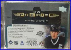 2019-20 Upper Deck Premier Premier Collection Retro Plexi Auto Wayne Gretzky