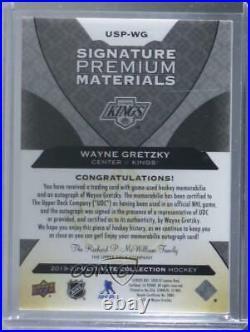 2019 Ultimate Collection Signatures Premium Materials /5 Wayne Gretzky Auto HOF