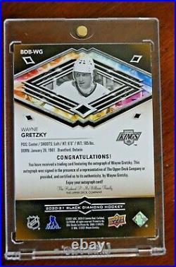 2020-21 Black Diamond Pure Black Wayne Gretzky Auto #/25