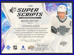 2020-21 UD SPX Hockey Wayne Gretzky Super Scripts Auto SSP LA Kings HOF
