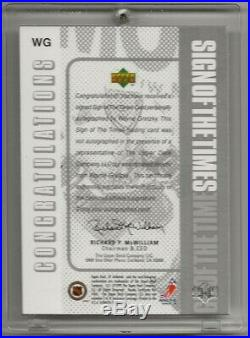 98-99 1998-99 SP Authentic Sign of the Times #WG Wayne Gretzky New York Rangers