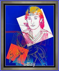 Andy Warhol Large Authentic Screenprint Hand Signed Wayne Gretzky Hockey Pop Art