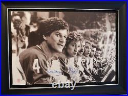 Auto Wga Le99 Wayne Gretzky Bobby Orr Dual Signed Bench Canvas