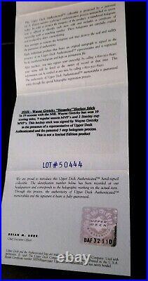 Autographed/Signed Wayne Gretzky Hespeler Hockey Stick Upper Deck Authenticated