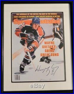 Autographed Uda Wayne Gretzky Sports Illustrated Framed 8x10