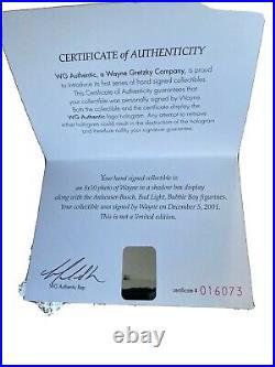 Bud Light Bubble Boys Vs Wayne Gretzky Autograph WG Authentic COA