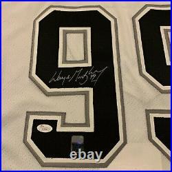 CCM Wayne Gretzky Los Angeles LA Kings Signed Auto COA Double Tag Jersey sz. 54