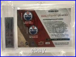 Connor Mcdavid & Wayne Gretzky 2015-16 The Cup Scripted Swatches Dual Auto Bgs