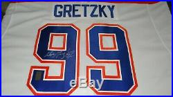 Gretzky Edmonton Oilers Captain Signed RARE White CCM VINTAGE Hockey Jersey