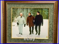 Howe, Gretzky, Lemieux signed photo on canvas #7 of very limited 199 Very rare