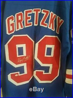 New York Rangers Signed auto autograph Jersey Wayne Gretzky with COA Kings Oilers