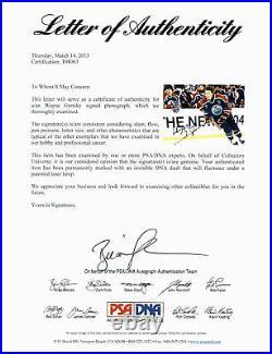 Oilers Wayne Gretzky Authentic Signed 11x14 Photo Autographed PSA/DNA #T08063
